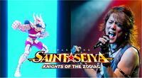 El legendario vocalista principal de Make-Up es el encargado de interpretar el nuevo opening del Saint Seiya Awakening. | Fuente: Composición.