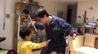 Padre e hijo recrean popular anime durante cuarentena y se vuelve viral