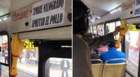 Lima: Bus que usa un pollo de goma en lugar de un timbre se vuelve viral en TikTok