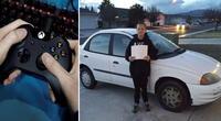 Niño vendió su Xbox y trabajó como jardinero para comprarle un carro a su mamá
