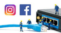 Tanto Facebook como Instagram vuelven a presentar fallos en menos de una semana. | Fuente: Composición.