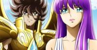 Los Caballeros del Zodiaco: ¿Seiya y Saori son una pareja oficial?
