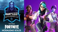 Rampage Battle Royale Cup contó el modo Espectador oficial de Fortnite./Fuente: Logitech.