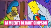 Bart murió de manera oficial en Los Simpson.
