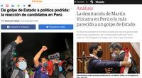"""""""Golpe de Estado"""": Así reacciona prensa internacional a la crisis en Perú"""
