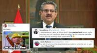 Usuarios peruanos celebran la renuncia de Manuel Merino.