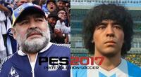 Diego Armando Maradona se enfrentó a Konami por el supuesto uso de su imagen sin autorización para el videojuego PES 2017./Fuente: Composición.