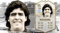 La leyenda del fútbol argentino ha incrementado su valor en el Ultimate Team de FIFA 21 tras su muerte./Fuente: 3D Juegos.