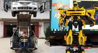 Un hombre convierte autos viejos en increíbles Transformers.
