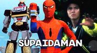 Supaidaman, el hombre araña japonés que invoca un robot gigante.