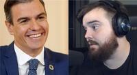 Pedro Sánchez, presidente del Gobierno de España, felicitó al streamer Ibai Llanos por Twitter./Fuente: Composición.
