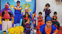 Fiesta temática de Dragon Ball se viraliza en redes sociales.