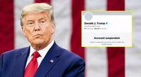 Twitter suspende indefinidamente la cuenta de Donald Trump.