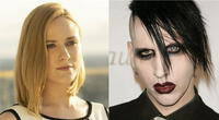 Evan Rachel Wood develó la misteriosa identidad de su abusador, quien resultó ser su expareja Marilyn Manson./Fuente: Composición.