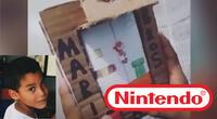 Nintendo tuvo que declarar a través de un portavoz para desmentir que hayan demandado al niño venezolano de 9 años que creó su propia Game Boy de cartón./Fuente: Composición.