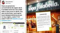 Saga Falabella aclara la polémica sobre los costos de los concentradores de oxígeno.