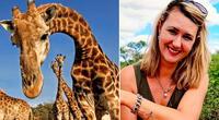 Merelize Van Der Merwe causa polémica en las redes por matar a una jirafa.