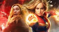 Actriz de Capitana Marvel asegura que su personaje es más fuerte que Wanda.