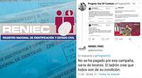 La cuenta de Twitter de Reniec Perú se disculpa por respuesta de unos de sus community manager.