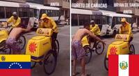 Con sus carritos de helados, un peruano y un venezolano se enfrentan en una carrera.