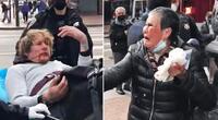 Xiao Zhen Xie de 76 años mandó al hospital a un hombre acusado de racismo.
