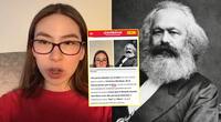 Tiktoker que no sabía que Karl Marx era una sola persona se vuelve noticia en Argentina.
