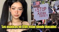 La joven tiktoker se une al movimiento #StopAsianHate.