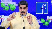 Facebook congela temporalmente la página del presidente de Venezuela.