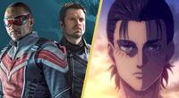Falcon and The Winter Soldier destronan a Shingeki no Kyojin como la serie más popular