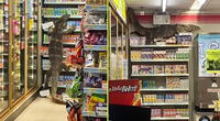 Un lagarto monitor fue captado en un supermercado tailandés.