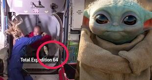 Baby Yoda y Cuatro astronautas abordaron Estación Espacial Internacional en logro histórico (Vídeo)