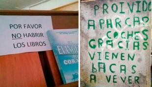 10 carteles con grandes errores ortográficos que harán que tus ojos 'sangren'
