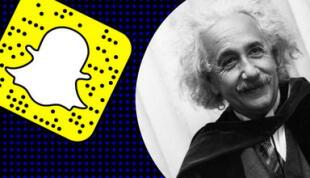 Albert Einstein 'apareció' en Snapchat y miles de cibernautas enloquecen con su filtro