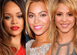 Rihanna, Beyoncé y Shakira.