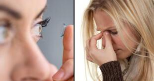 Médicos recomendaron tener mucho cuidado con los lentes de contacto.