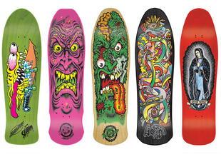 Tablas de skate con diseños.