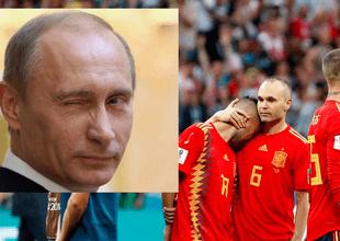 Vladimir Putin felicitó a su selección por ganarle a España.