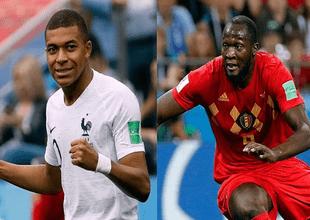Francia vs Bélgica se enfrentan en un duelo de titanes.