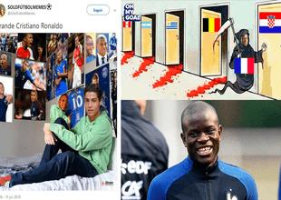 Cristiano Ronaldo, el árbitro Pitana y hasta Dembelé fueron víctimas de los memes.