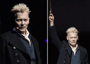 Johnny Depp atemorizó a fans de la Comic Con vestido como mago malvado.