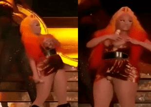 Nicki Minaj dejó ver más de la cuenta tras un incidente de su vestuario