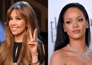 Thalía acusó a Rihanna de copiar su atuendo noventero.