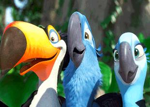 """""""Blue"""" era el guacamayo Spix que protagonizó la película."""