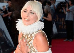 Lady Gaga en la alfombra roja de Nace una estrella en Londres.