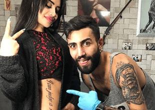 Sexy turca se hace tatuaje gigante y experto lo arruina.