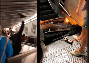 Al menos 20 heridos tras la falla en la escalera mecánica.