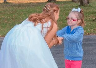 Layla Lester pensó que Olivia era una princesa de Disney.