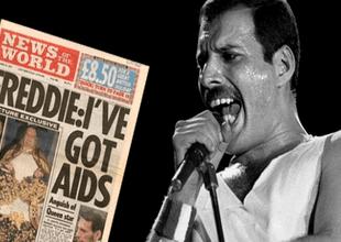 Un día antes de fallecer, Freddie Mercury emitió un mensaje en el que admitía que era portador de VIH/Sida, tras meses de especulaciones