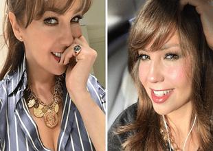 """Thalía presume su rostro con excesivo maquillaje y fans la tildan de """"payasita""""."""