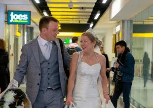 No pasó ni una semana, pero de todos modos se casaron.